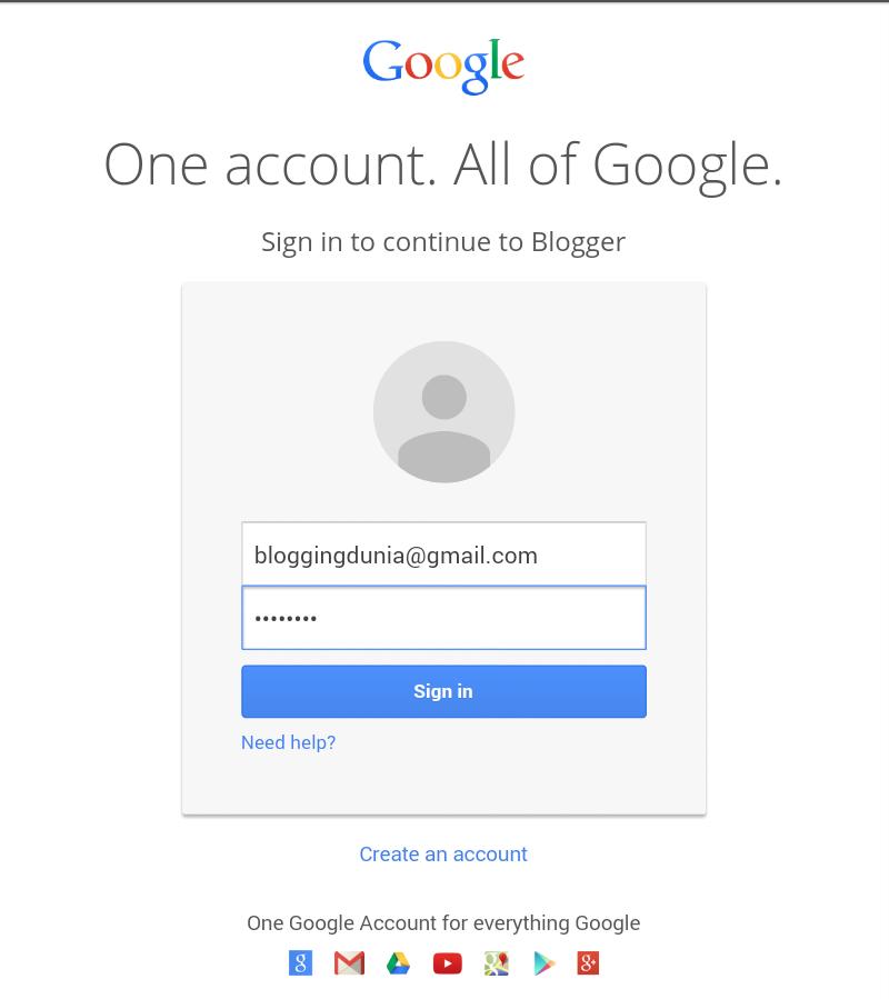 Langkah Pertama dan cara mudah Buat Blog 1
