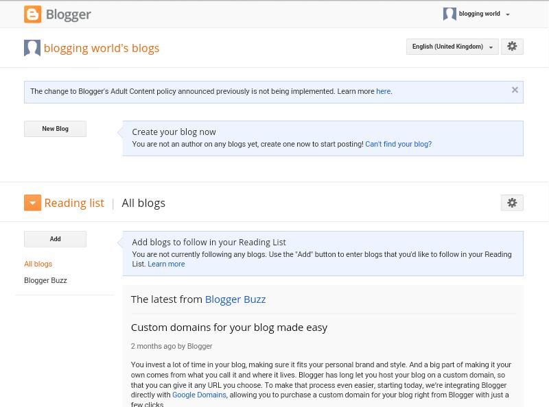 Langkah Pertama dan cara mudah Buat Blog 5