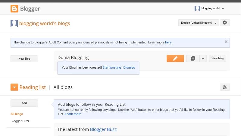 Langkah Pertama dan cara mudah Buat Blog 7