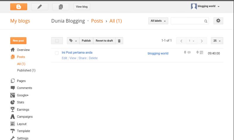 Langkah Pertama dan cara mudah Buat Blog 9