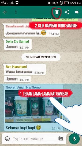 buang gambar dari whatsapp