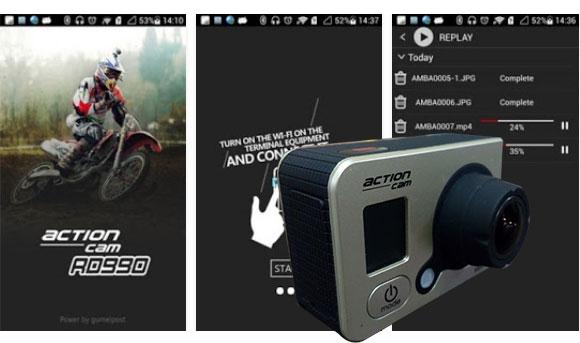 kontrol actioncam990 guna wifi