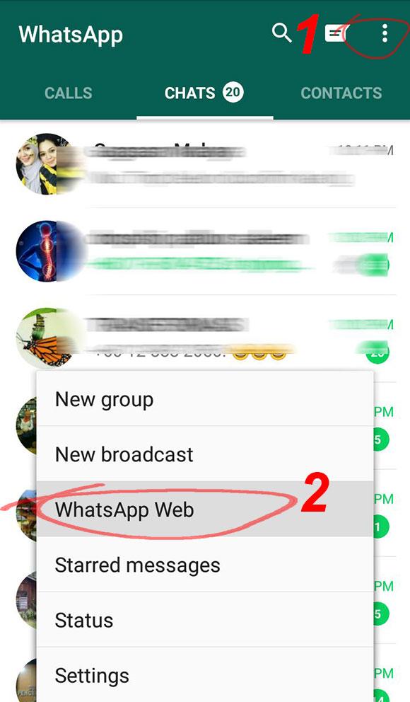 cara log out whatsapp web