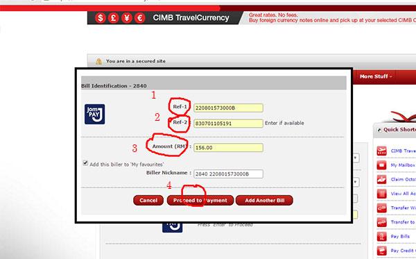 Cara Bayar Cukai Taksiran Online 3
