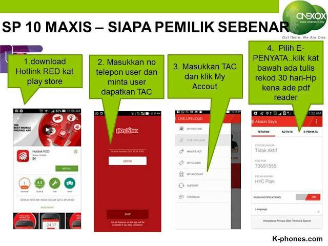 Cek Pemilik Nombor Telefon Guna Hotlink RED App 1