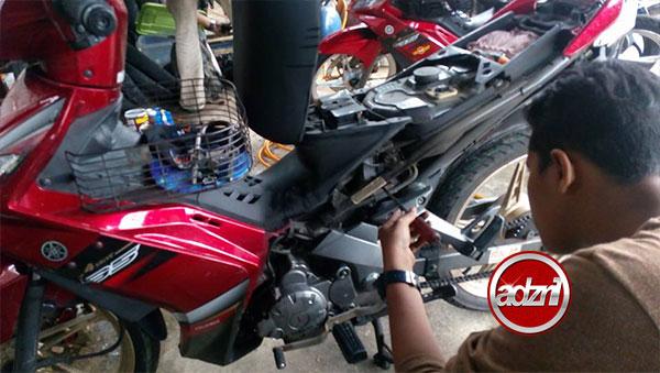 Tukar Mono Yamaha 135 LC Terus Jadi Keras Macam Kancil Potong Spring 4