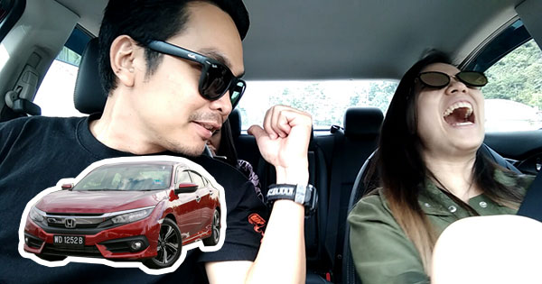 review blogger uji pandu honda civic FC baru.