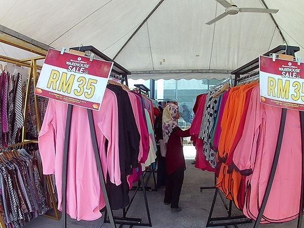 Benang Hijau dan Muslimah Clothing (MCC) Buat Warehouse Sale 3