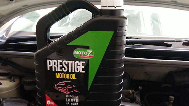 Servis Perodua Viva dengan Minyak Enjin Moto7 2