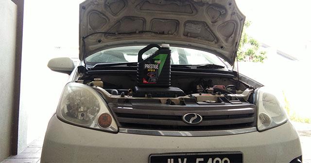 Servis Perodua Viva dengan Minyak Enjin Moto7 1