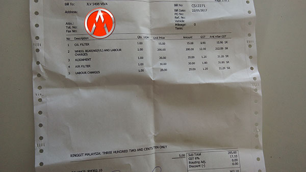 engine oil dan bearing tayar
